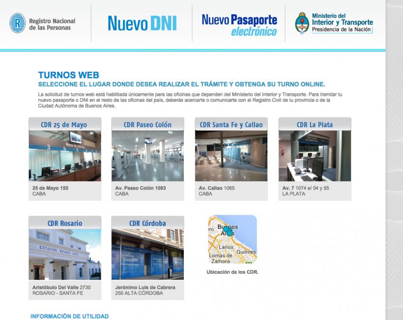 Demoras en los turnos para sacar el pasaporte for Dni ministerio del interior turnos