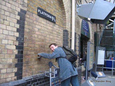 La foto en King Cross «a lo Potter»