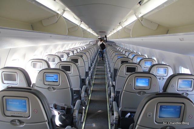El viaje en el Embraer