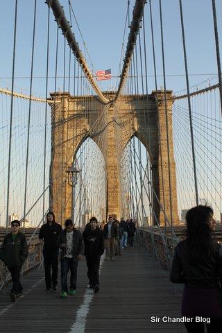 Postales en el puente de Brooklyn