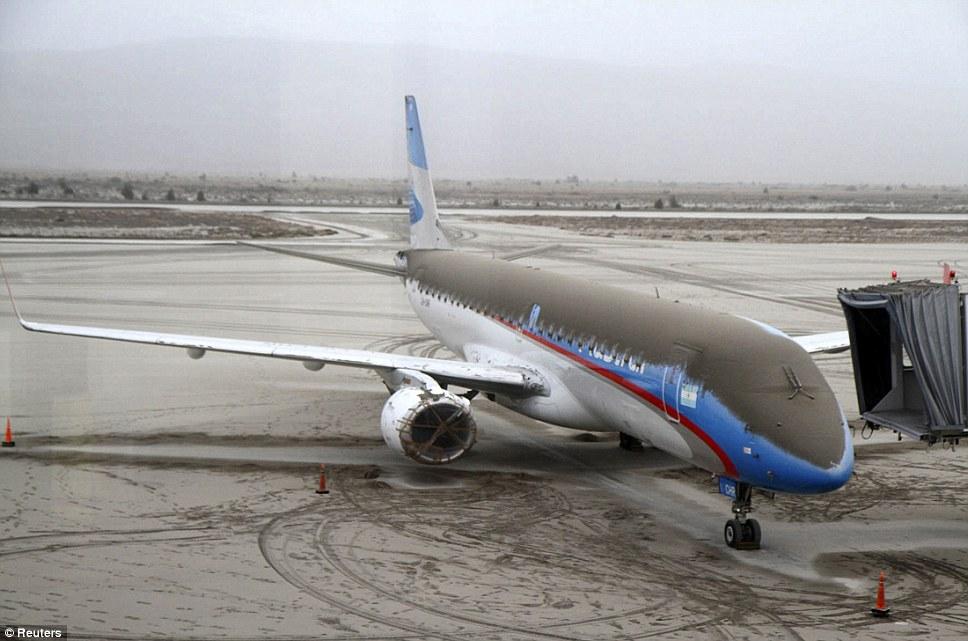 Un Embraer encenizado