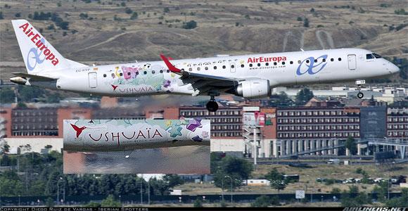 En España si saben escribir USHUAIA las aerolíneas