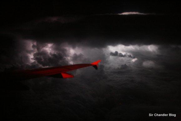 Fotos de una tormenta desde el aire