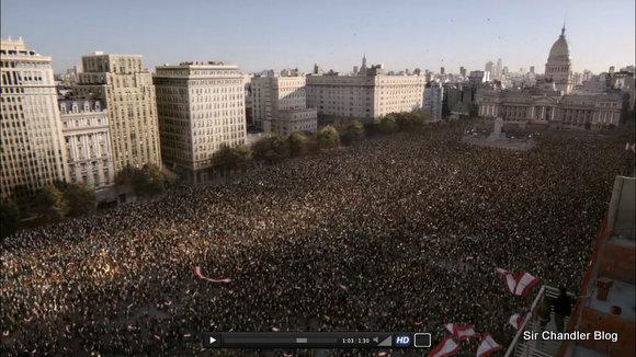 El video que subió Mark Zuckerberg por los 1.000 millones de usuarios, con un par de imágenes de Buenos Aires