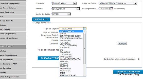 Recordatorio: hagan la declaración jurada de aduana de manera online