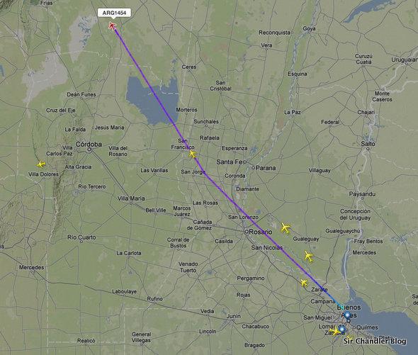 Flightradar mejoró su cobertura del espacio aéreo argentino