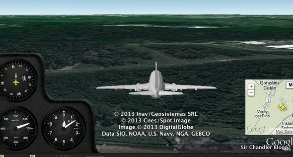 El cockpit view de Flightradar, para ver un vuelo desde la cabina