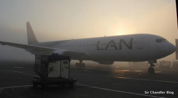 ¿Niebla en el aeropuerto? ¡¡¡Esto es niebla!!!