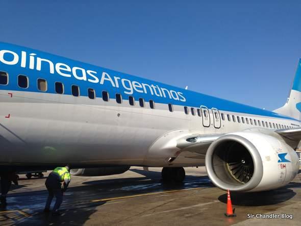 Aerolíneas arrancó con sus vuelos a Caracas en Boeing 737 800