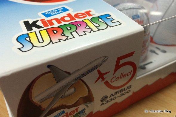 Los huevos Kinder con Airbus 330 de sorpresa