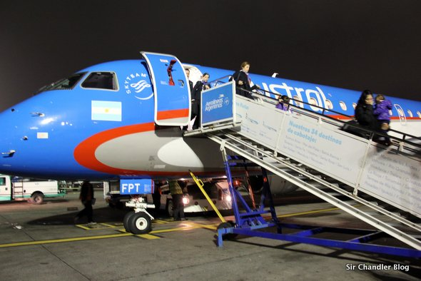 Volviendo de Trelew en un Embraer 190 de Austral. Crónica
