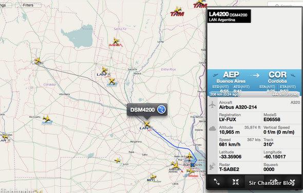 El avión nuevo de LAN Argentina entró en servicio y apareció en Flightradar