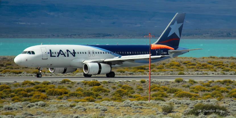 Volviendo de El calafate con LAN. Último vuelo de 2014