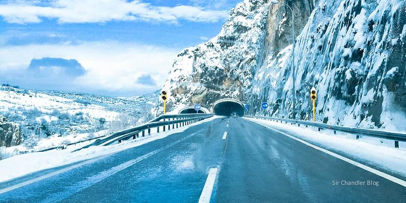 Desde Madrid a Bilbao. Crónica en auto y con nieve