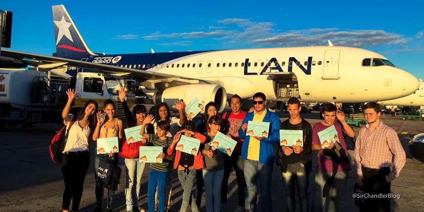 Así es el «Todos podemos volar» de LAN Argentina