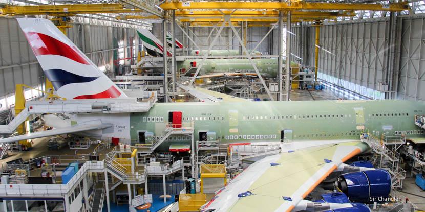 Visitando la fábrica de Airbus en Toulouse