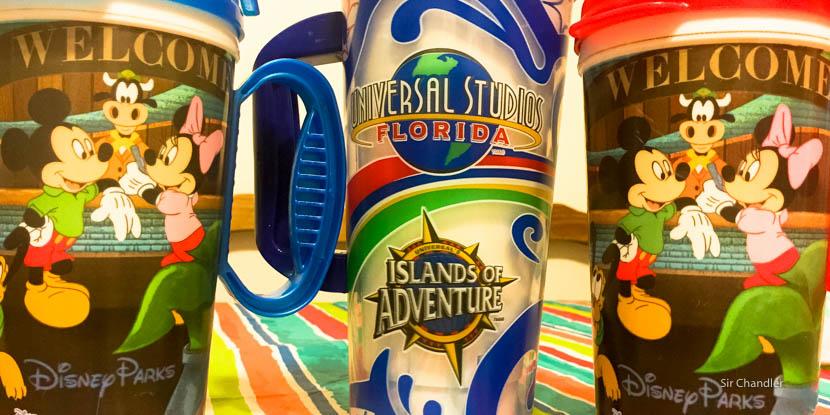 Los vasos recargables de Disney y Universal en Orlando