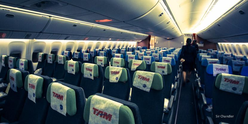 Vuelo TAM desde Miami a San Pablo en 777