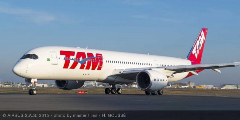 El Airbus 350 de TAM comenzó a volar con pasajeros