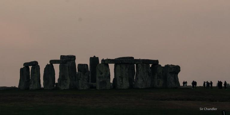 Visitando las piedritas de Stonehenge