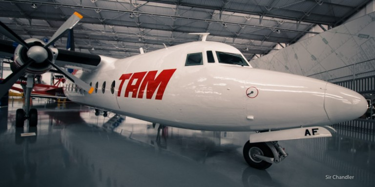 El increíble museo de aviones de TAM en Brasil