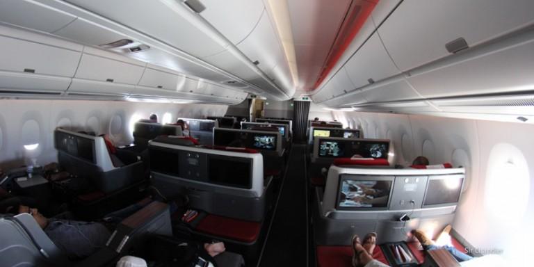Crónica de vuelos en el Airbus 350