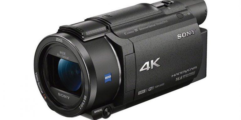 La video cámara Sony AX53