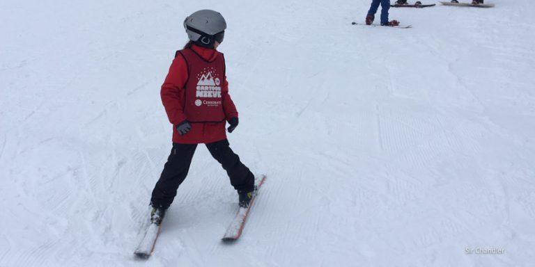 La escuela de ski para chicos en el Cerro Bayo