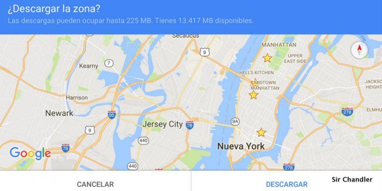 Bajar los mapas de google antes de cualquier viaje es fundamental