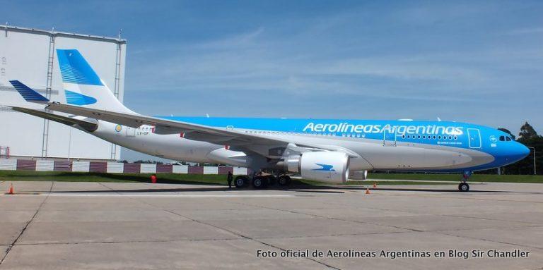Aerolíneas Argentinas cancela un vuelo pero mantiene Caracas