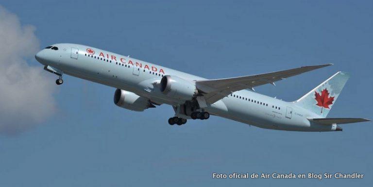 Air Canadá está con vuelos diarios y próximo cambio al Boeing 787