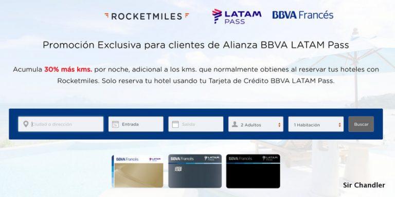 Se extiende la promo de Rocketmiles con LATAM Pass extras para clientes Francés
