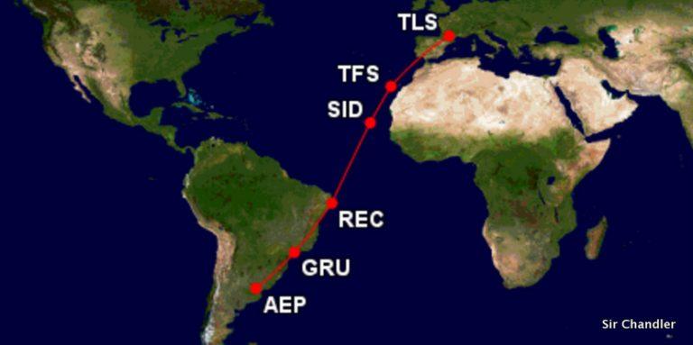 ¿Cómo llega el ATR72 de Avianca desde Francia a la Argentina?