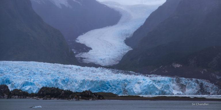 El glaciar Amalia en la patagonia chilena desde el crucero de Princess