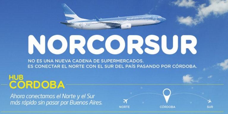 Arrancaron en Aerolíneas el corredor atlántico y el hub de Córdoba