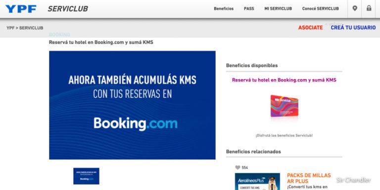 Booking permite sumar ahora en YPF Serviclub