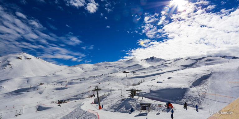 Esquiando en Valle Nevado, Chile