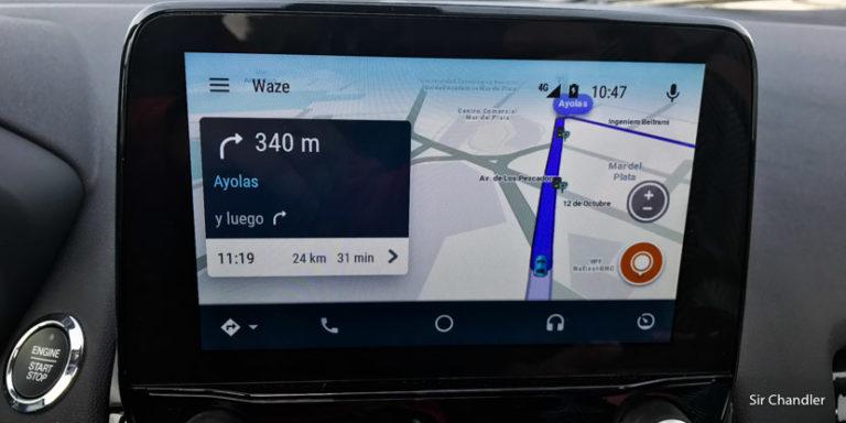 El uso de Android Auto y el Waze