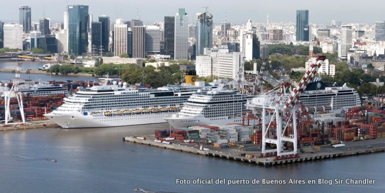 Más de 300.000 turistas pasarán por Buenos Aires con los cruceros (tipo unos 600 Airbus 380)