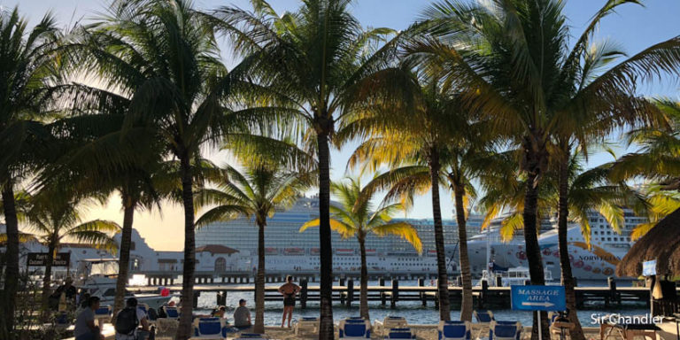 Bajando en Cozumel con el crucero
