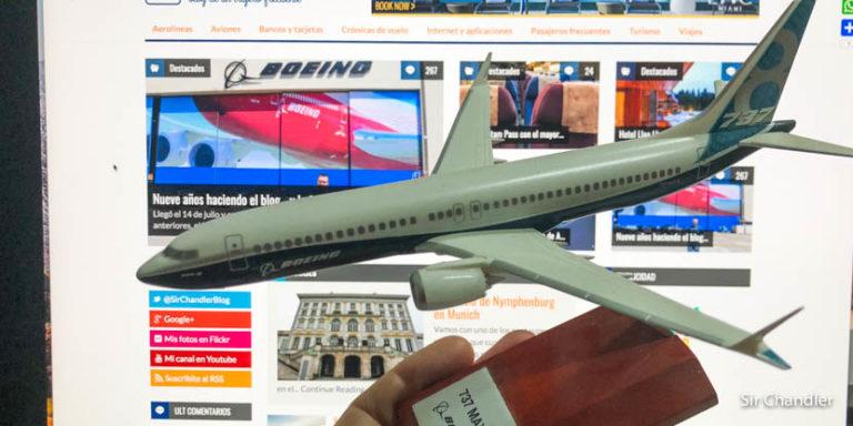 El concurso por el aniversario del blog con los premios de Boeing
