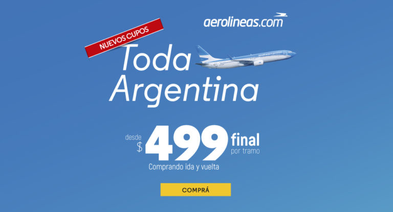 Aerolíneas Argentinas habilitó más pasajes a $499 (¿hola Norwegian?)