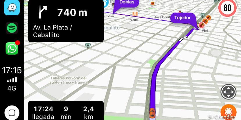 El Waze en el Carplay de los iphone ¿Mejor o peor que en los