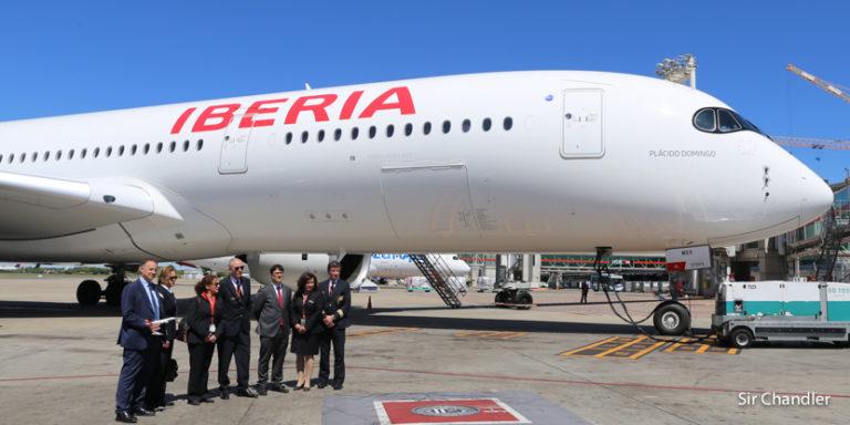 Airbus 350: Iberia lo presentó en Buenos Aires