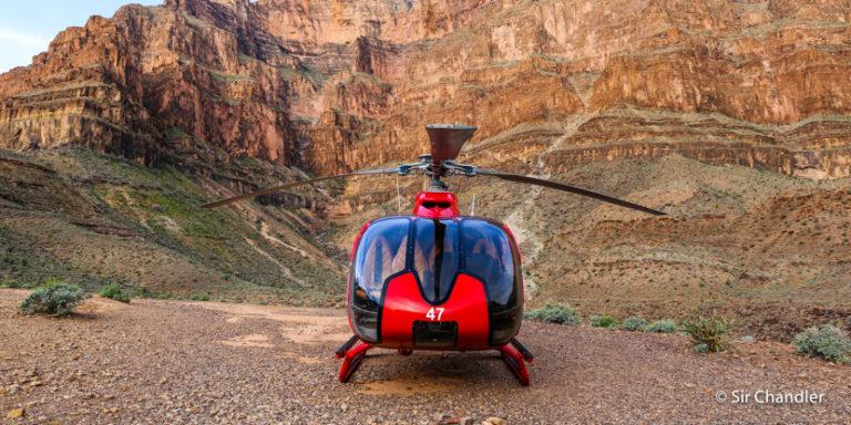 La excursión en helicóptero al gran cañón cerca de Las Vegas