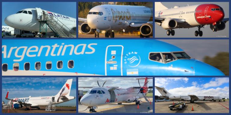 ¿En qué aerolíneas volaste cabotaje en los últimos 12 meses?