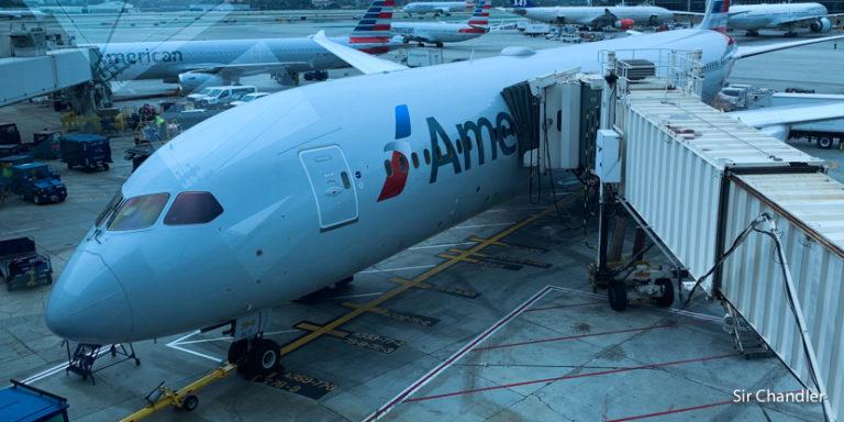 Desde Los ángeles a Dallas en un Boeing 787 de American Airlines