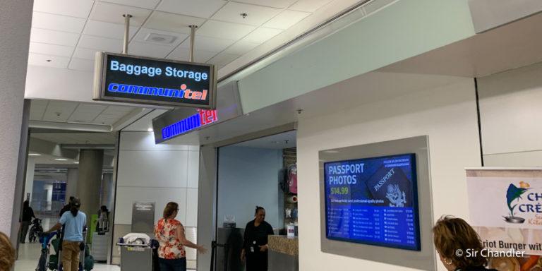 El depósito de equipaje en el aeropuerto de Miami