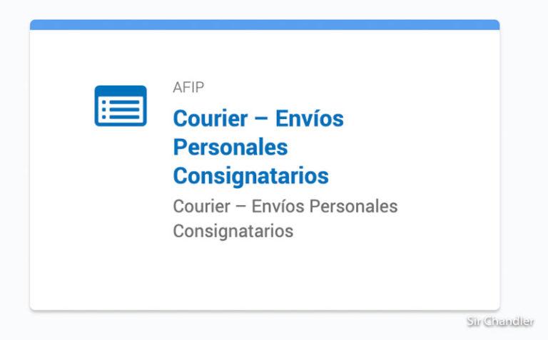 Chequear el cupo de courier en la web de la AFIP