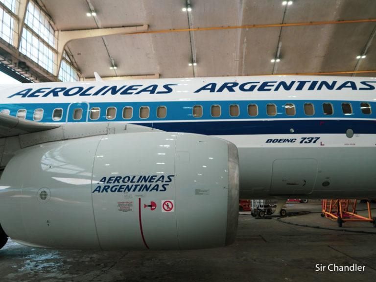 Una recorrida por hangares de Aerolíneas Argentinas en Ezeiza